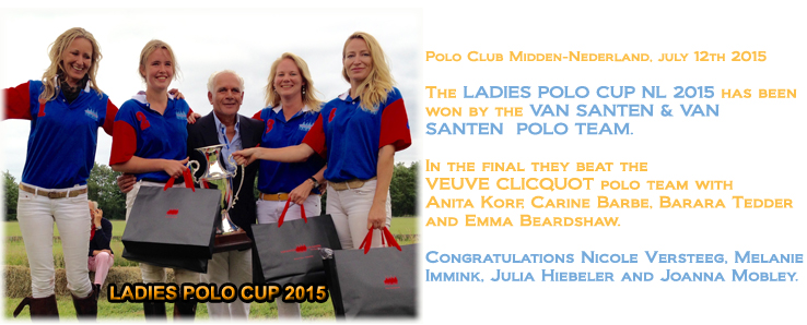VAN SANTEN & VAN SANTEN wins the LADIES POLO CUP NL 2015